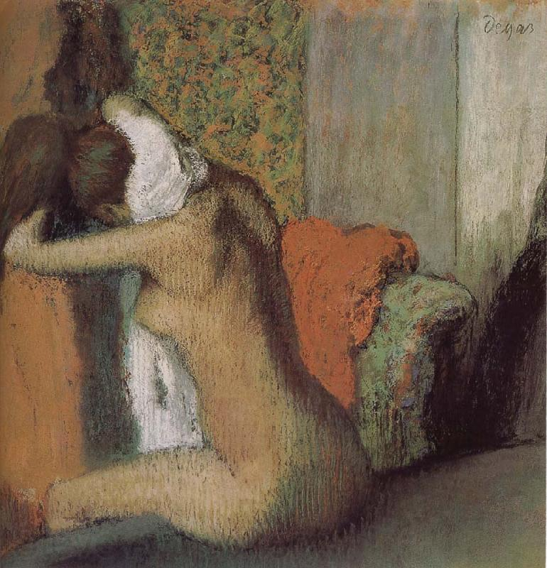 Edgar Degas After bath