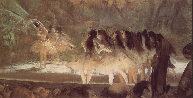 Edgar Degas ballerina-s performance at opera house in Paris