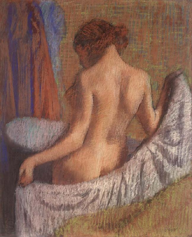 Edgar Degas After the Bath,woman witl a towel