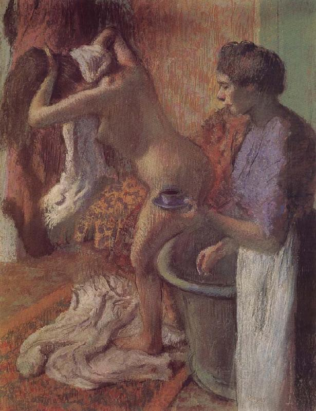 Edgar Degas The breakfast after bath
