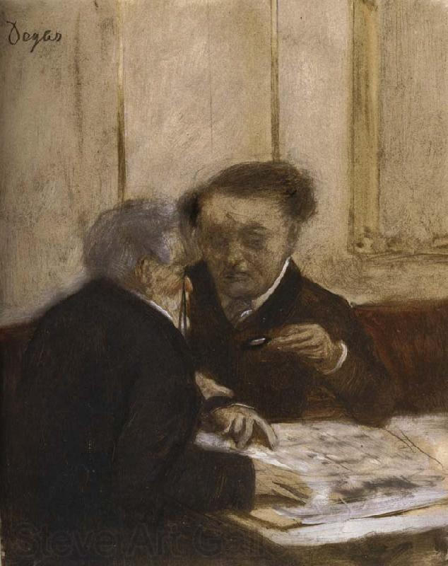 Edgar Degas At the Cafe Chateauden