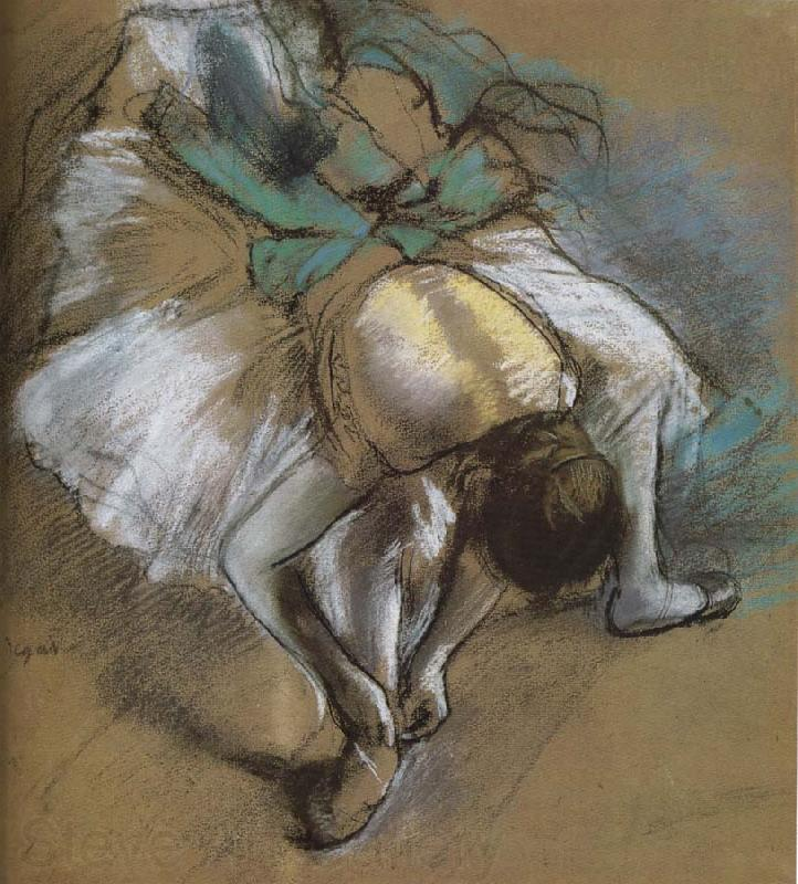 Edgar Degas dancer wearing shoes