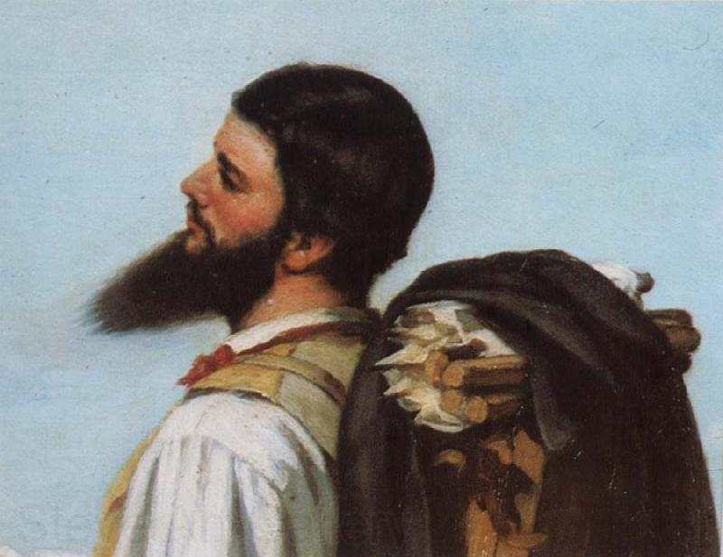 Gustave Courbet Detail of encounter