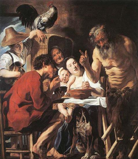 Jacob Jordaens Satyr and Peasant