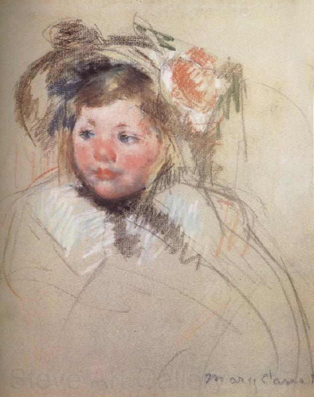 Mary Cassatt Sarah wearing the hat and seeing left