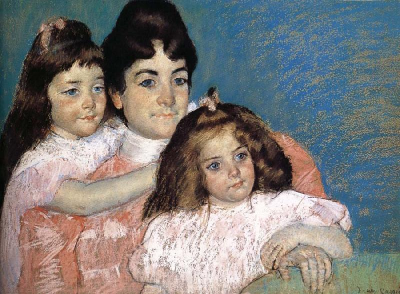 Mary Cassatt The Lady and her two daughter