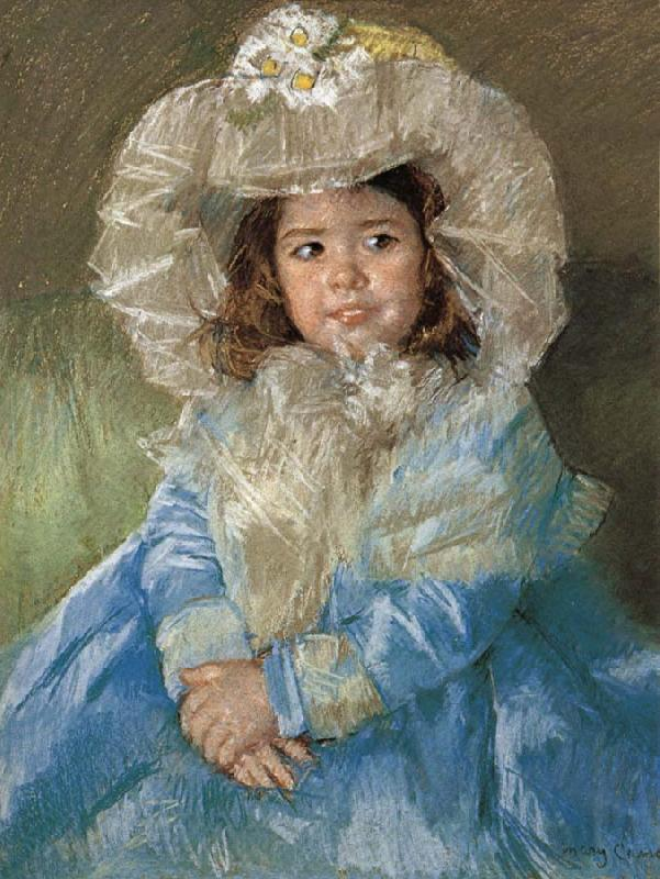 Mary Cassatt Margot in Blue Blue Dress Mary Cassatt