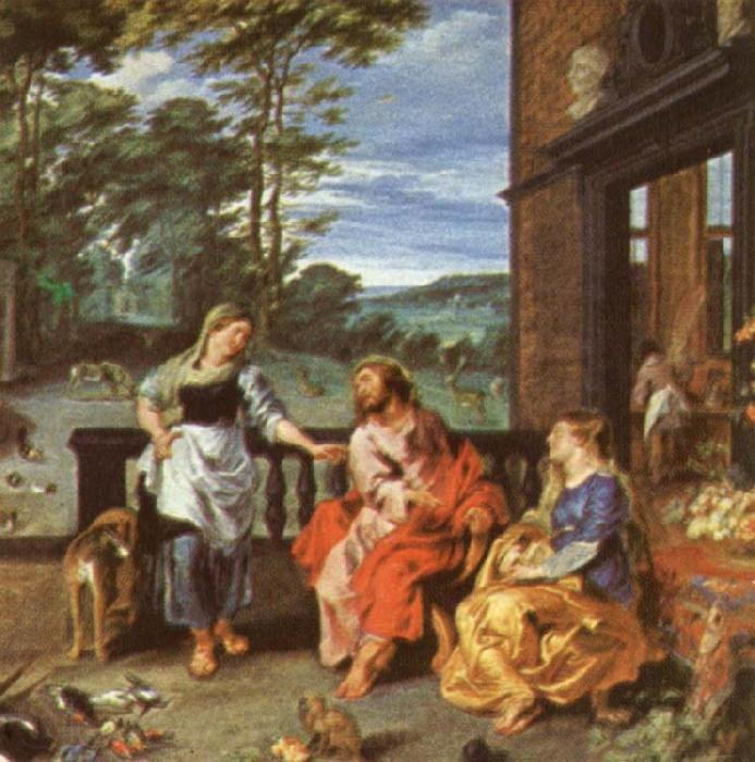 Peter Paul Rubens Christ at the House of Martha and mary