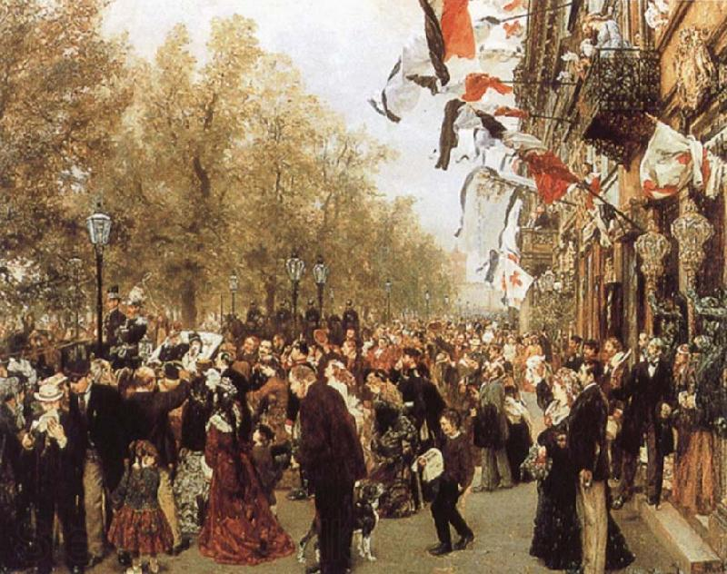 Adolph von Menzel Departure of King Whilelm i for the Front