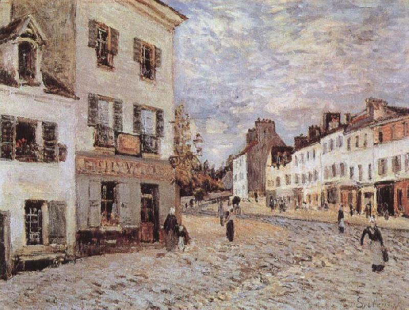 Alfred Sisley Market Place at Marly