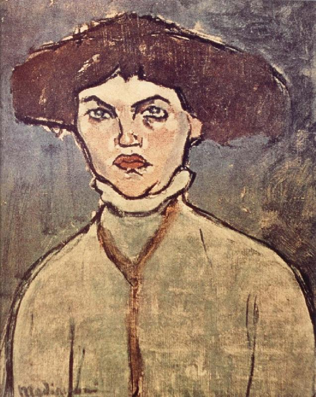 Amedeo Modigliani Head of a young woman
