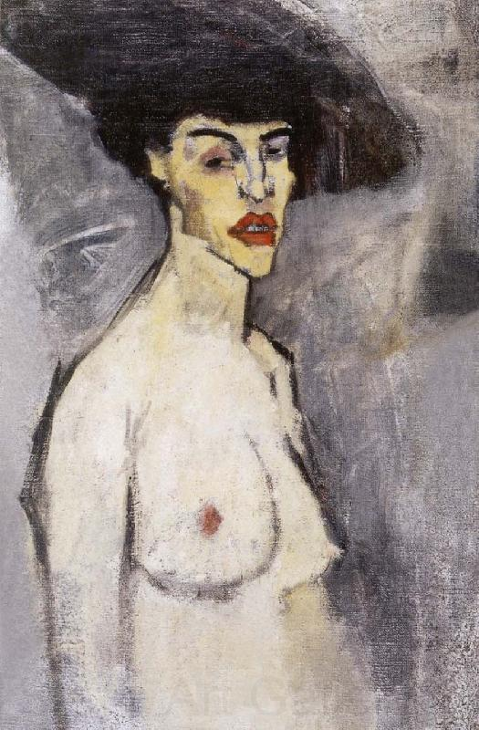 Amedeo Modigliani Female nude with hat