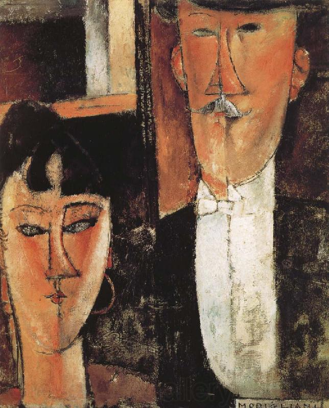 Amedeo Modigliani Bride and Groom