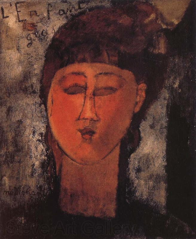 Amedeo Modigliani Girl with Braids