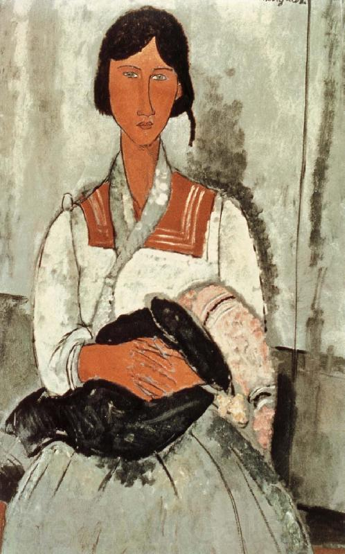 Amedeo Modigliani Gypsy Woman and Girl