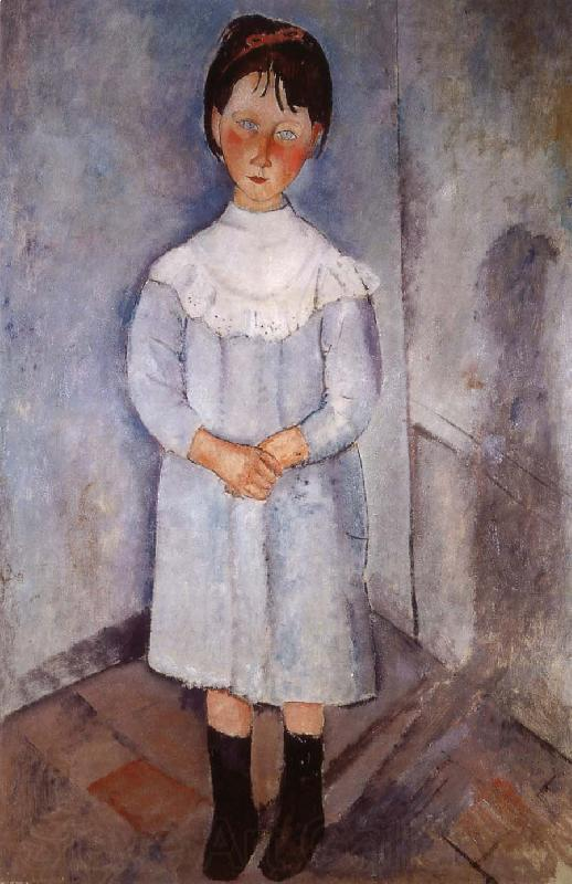 Amedeo Modigliani Little girl in blue