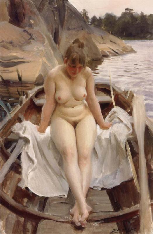 Anders Zorn In Werner-s Rowing Boat