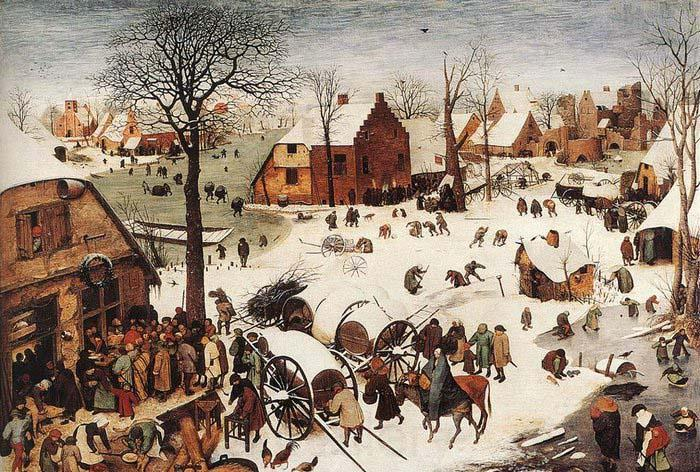 BRUEGEL, Pieter the Elder The Numbering at Bethlehem