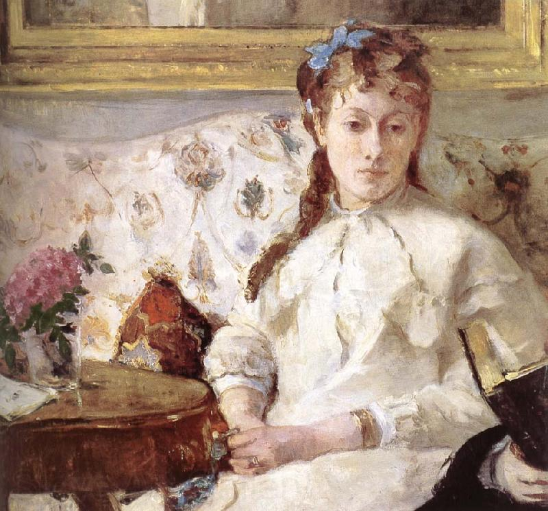 Berthe Morisot Detail of artist-s mother and his sister