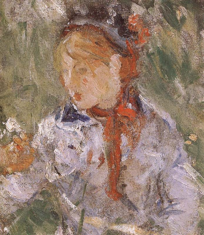 Berthe Morisot Detail of Mother and her son in the garden