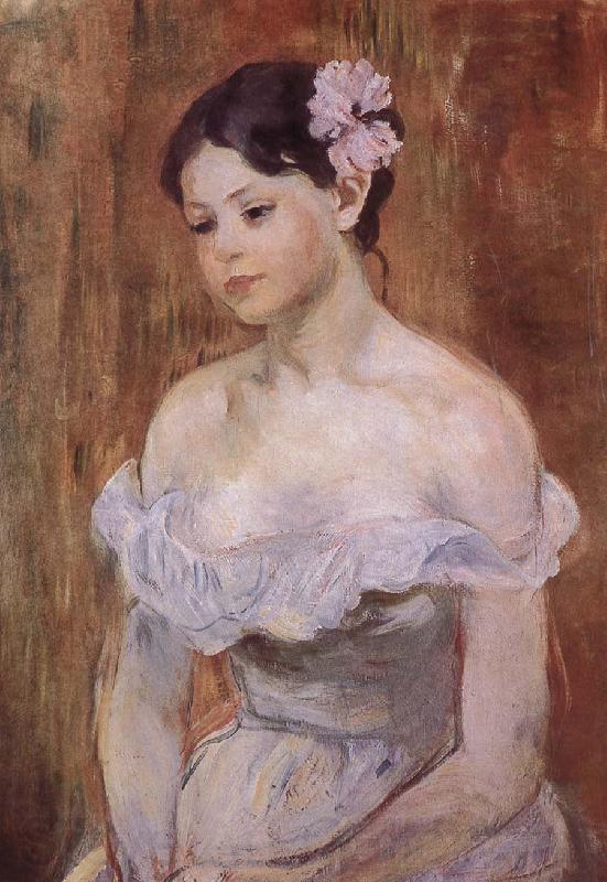 Berthe Morisot The girl wearing the fresh flowers
