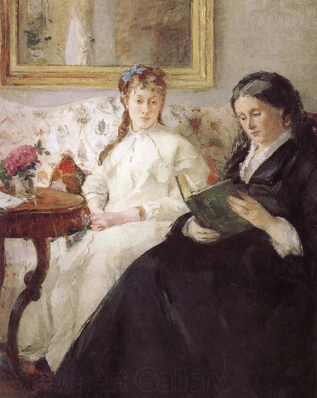 Berthe Morisot Artist-s monther and his sister