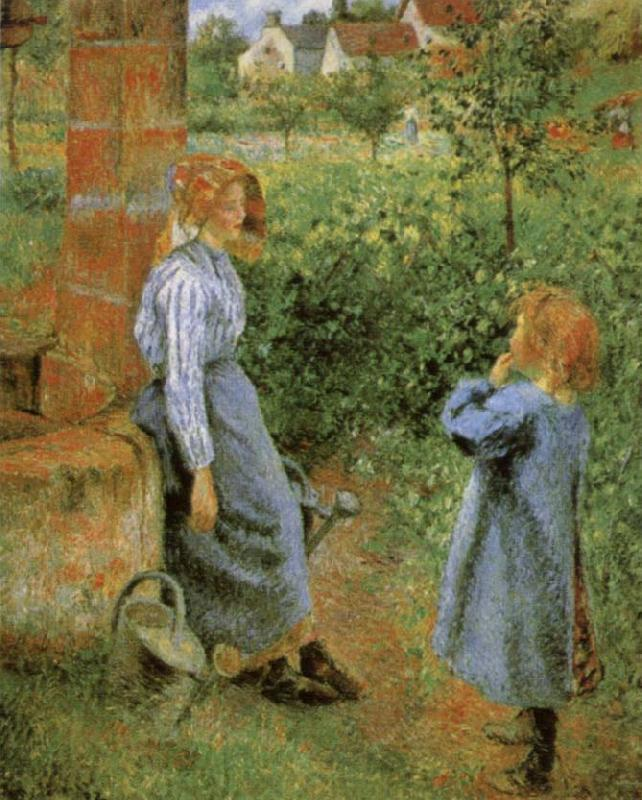 Camille Pissarro Woman and Child at a Well