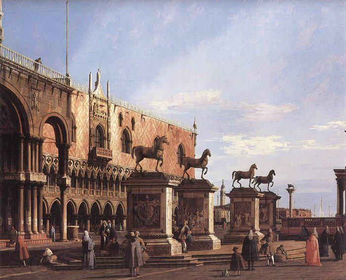 Canaletto The Horses of San Marco in the Piazzetta