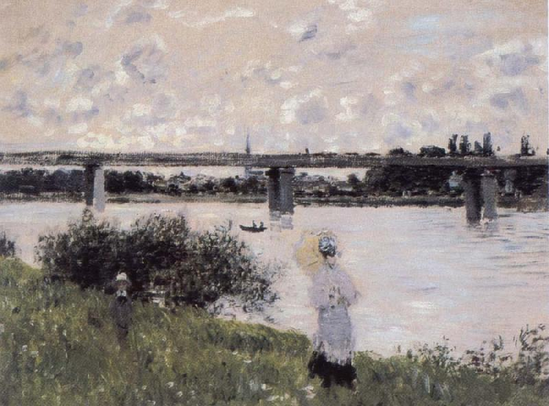 Claude Monet By the Bridge at Argenteuil