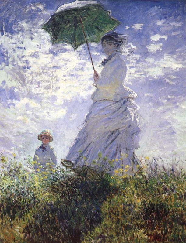 Claude Monet A woman with a parasol