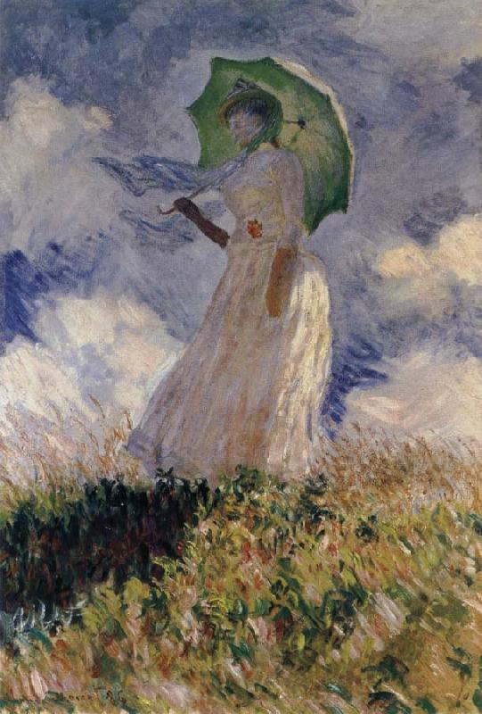 Claude Monet Study of a Figure Outdoors
