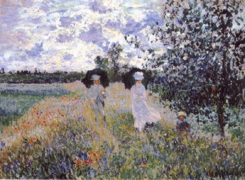 Claude Monet A Walk near Argenteuil