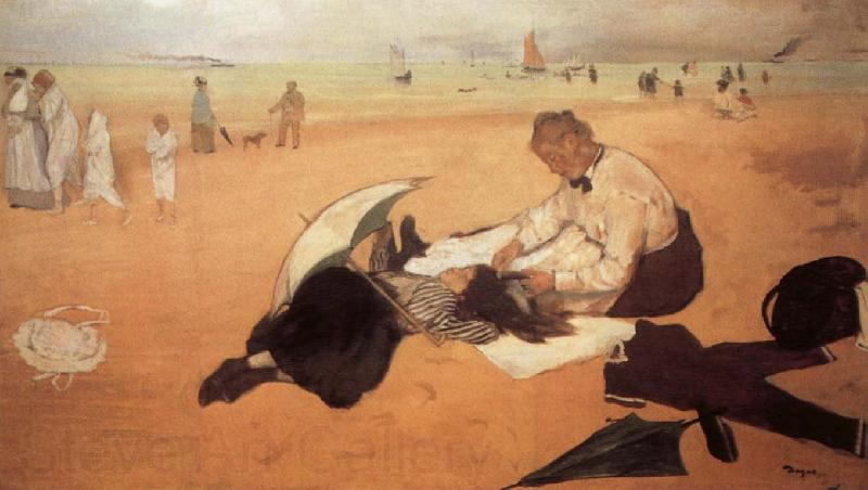 Edgar Degas At the Beach