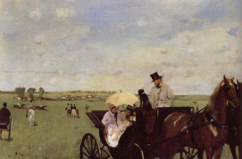 Edgar Degas A Carriage at the Races