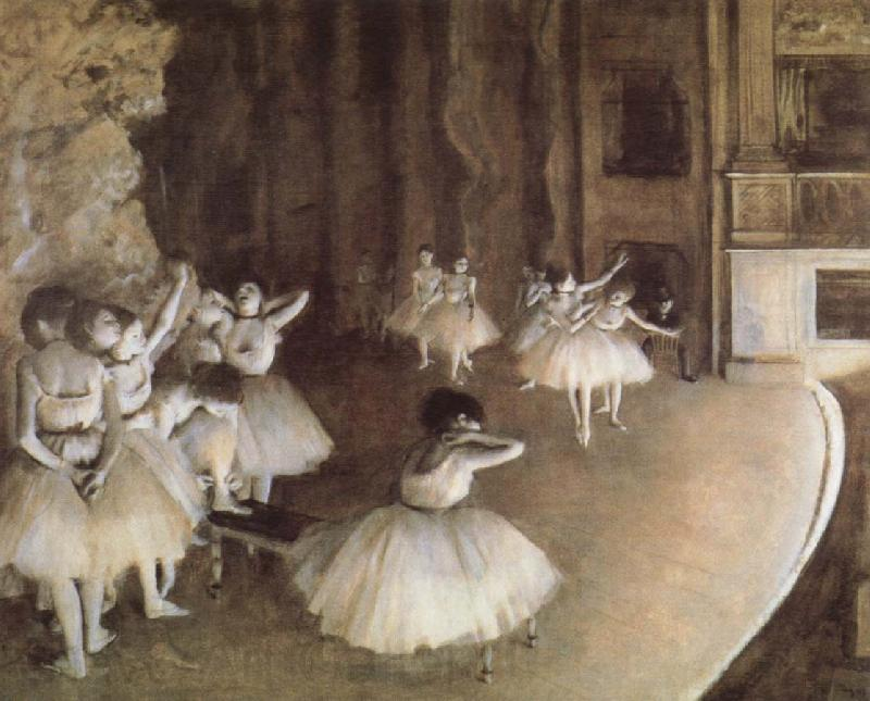 Edgar Degas Rehearal of a Baller on Stage