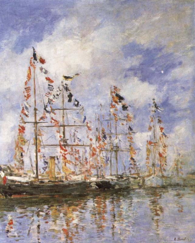 Eugene Boudin Sailing Ships at Deauville