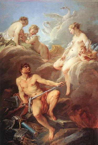 Francois Boucher Venus Demanding Arms from Vulcan for Aeneas