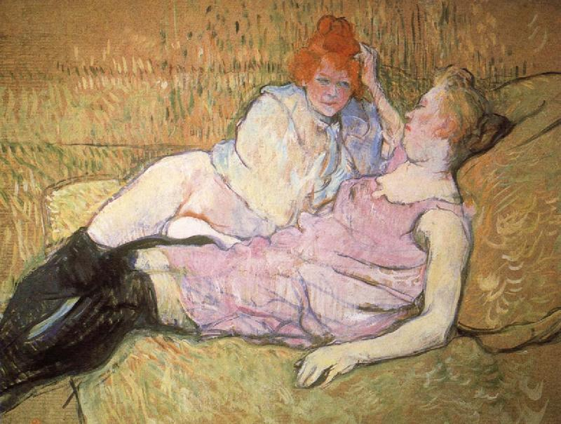 Henri de toulouse-lautrec The Sofa