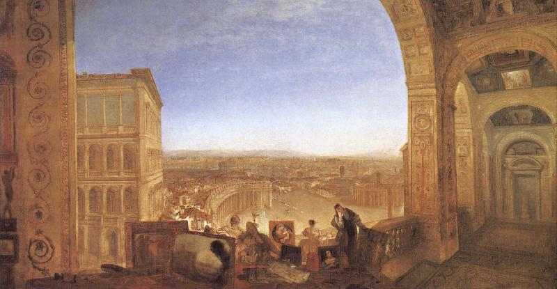 J.M.W. Turner Rome,From the Vatican Raffalle