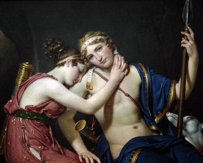 Jacques-Louis  David The Farewell of Telemachus and Eucharis