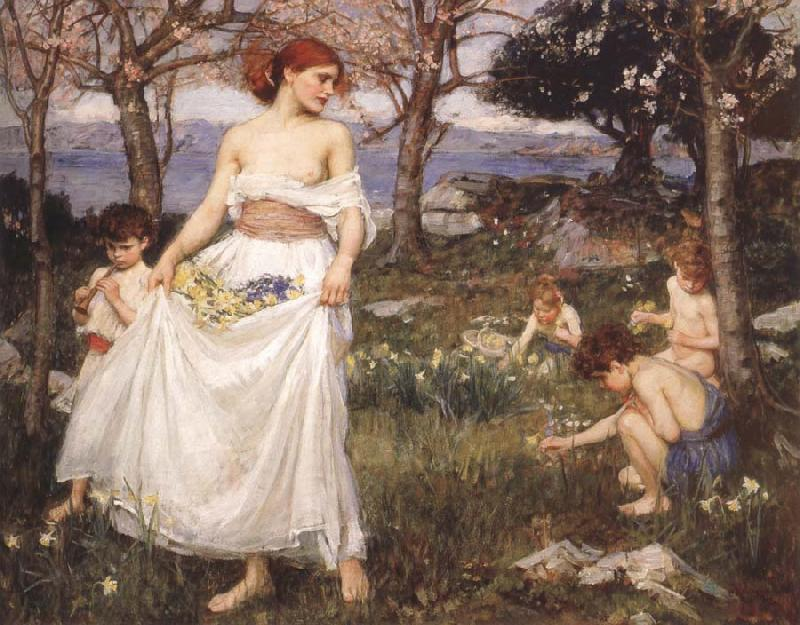 John William Waterhouse A Song  of Springtime