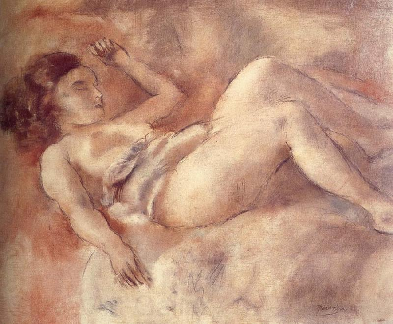 Jules Pascin Nude of sleep like a log