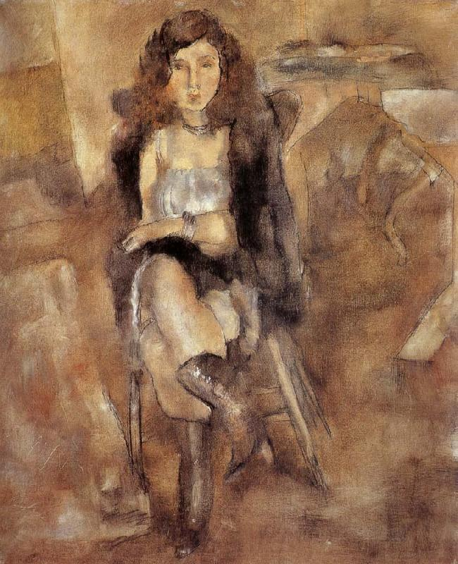 Jules Pascin Cloth put on the Female-s waist