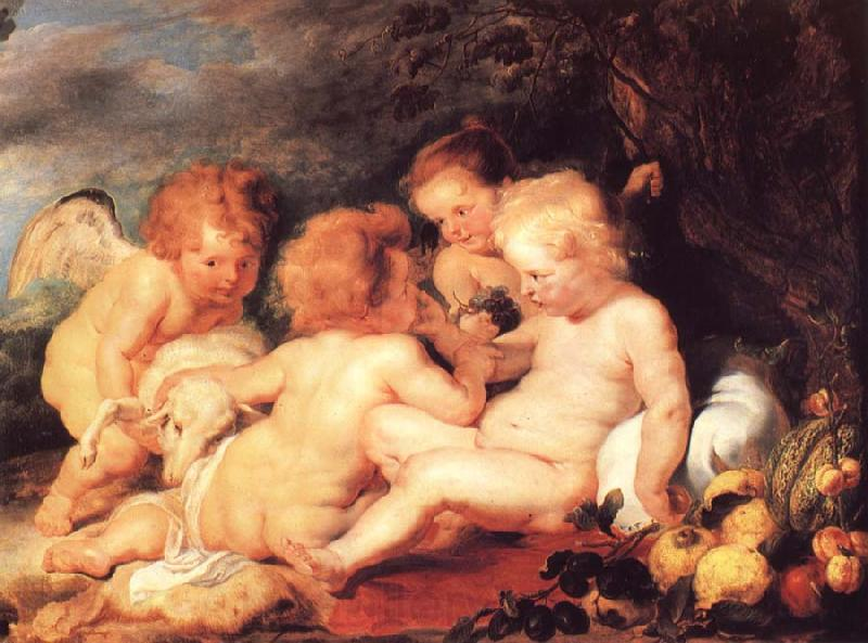 Peter Paul Rubens Christ and Saint John with Angels