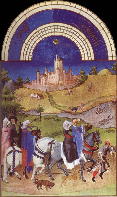 unknow artist Brod Limbourg, August  from Les Tres Riches Heures du Duc de Berry