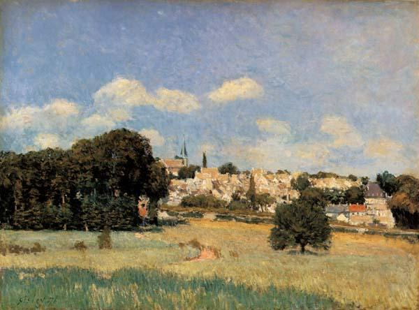 Alfred Sisley View of Marly-le-Roi-Sunshine