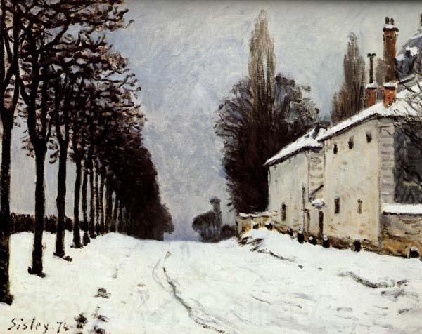 Alfred Sisley Snow on the Road,Louveciennes