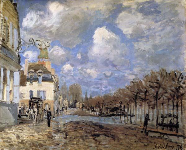 Alfred Sisley Boat in the Flood at Port-Marly