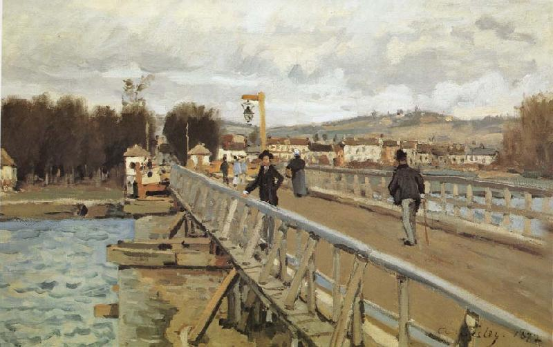 Alfred Sisley Footbridge at Argenteuil