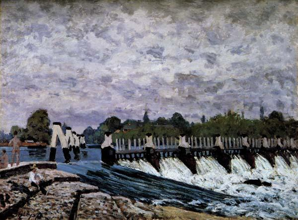 Alfred Sisley Molesey Weir-Morning